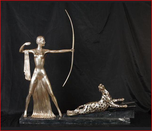 Art Deco Skulptur, Diana Bronze vers.,  2