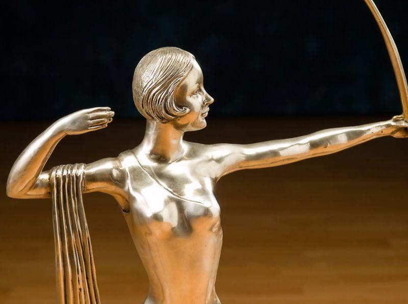 Art Deco Skulptur, Diana Bronze vers.,  3