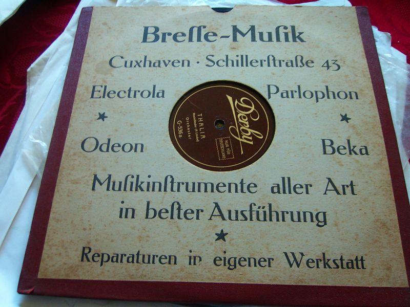 SCHELLACK PLATTE UM 1920
