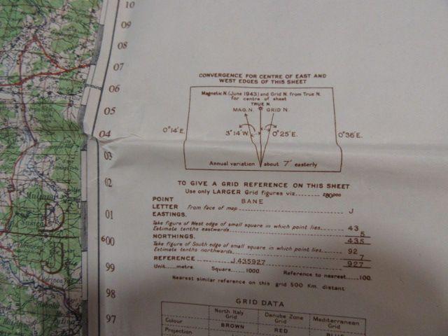 Original Original US-Karte des Zweiten Weltkriegs 1943. 3