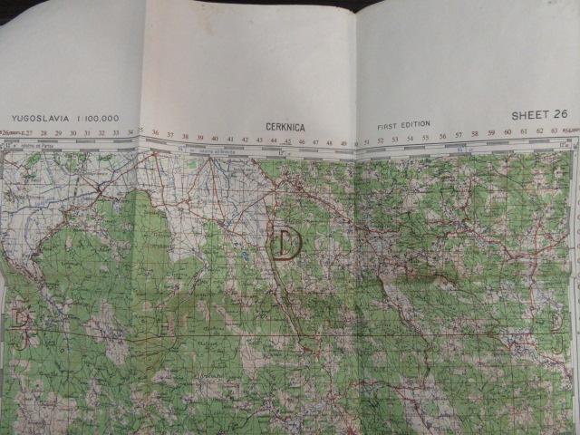 Original Original US-Karte des Zweiten Weltkriegs 1943. 4