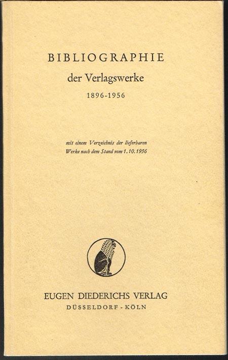 Bibliographie der Verlagswerke 1896-1956 mit einem Verzeichnis der lieferbaren Werke nach dem Stand vom 1. 10. 1956.