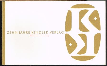 Zehn Jahre Kindler Verlag.