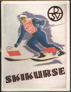 DSV.-Skikurse. 107 Vierzehntageskurse des Deutschen Skiverbandes im Winter 1935/36 nicht nur für alle Mitglieder des DSV., sondern für alle Winterfreunde.