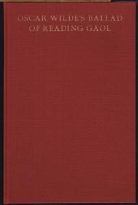 Abraham Horodisch: Oscar Wilde's Ballad of Reading Gaol. A Bibliographical Study.