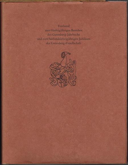 Gutenberg-Jahrbuch 1976. Begründet 1926 von Aloys Ruppel. Herausgegeben im Auftrag der Gutenberg-Gesellschaft von Hans Widmann.