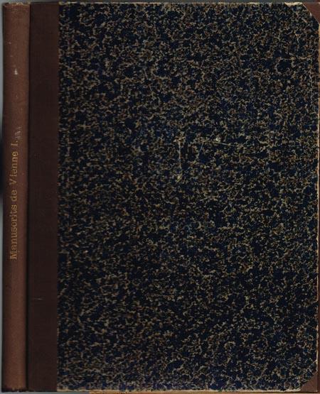 Rudolf Beer: Les Principaux Manuscrits a Peintures de la Bibliothèque Imperiale de Vienne. 1er Article.