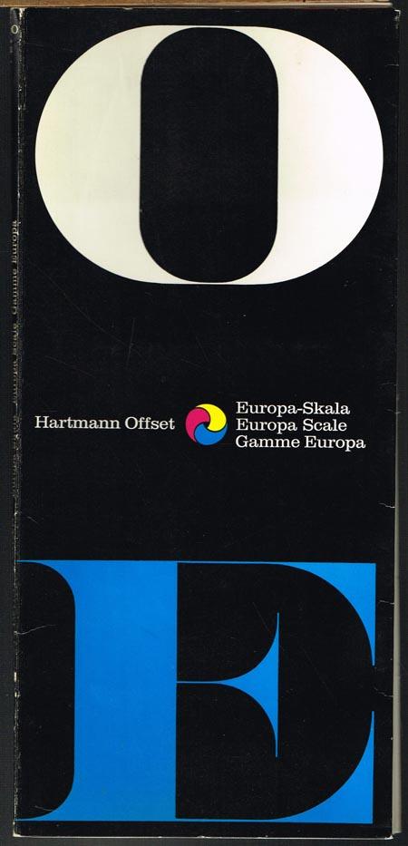 Hartmann Offset. Europa-Skala. Europa Scale. Gamme Europa. [Farben-Mischtafeln].