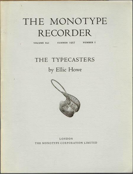 Ellic Howe: The Typecasters.