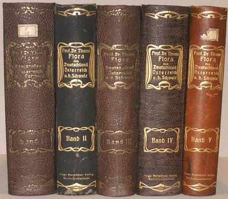 Prof. Dr. Thomé's Flora von Deutschland, Oesterreich und der Schweiz. 5 Bände.