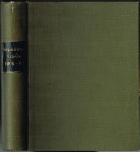 Simplicissimus-Kalender 1906, 1907, 1908 und 1909 in einem Band.