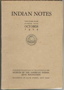 Indian Notes. Volume One, Number Four, October 1924.