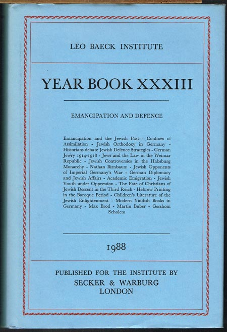 Year Book XXXIII. Emancipation and Defence.