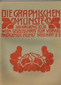 Die Graphischen Künste. Jahrgang XLIII, 1920, Heft 2/3.