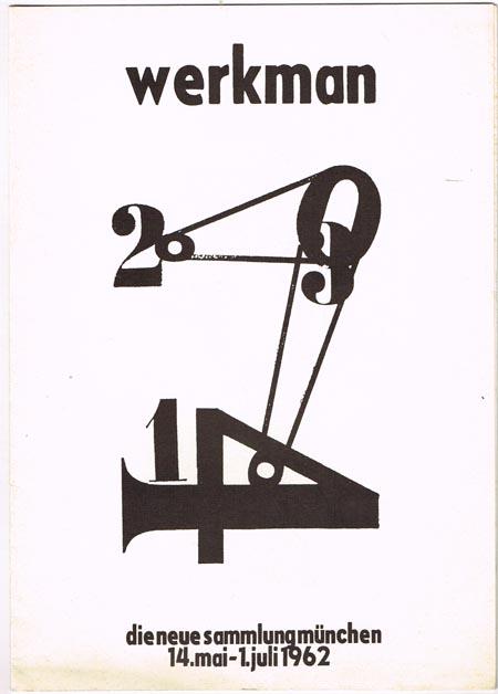 werkman. die neue sammlung münchen 14. mai -1. juli 1962.