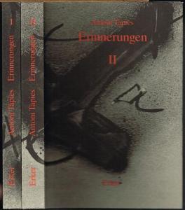 Antoni Tàpies. Erinnerungen I [und] II. Fragment einer Autobiographie. 2 Bände.