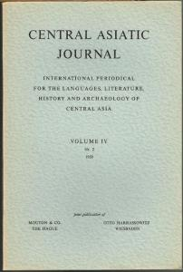 Central Asiatic Journal. International Periodical for the Languages, Literature, History and Archaeology of Central Asia. Volume IV, Nr. 2, 1959.