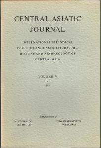 Central Asiatic Journal. International Periodical for the Languages, Literature, History and Archaeology of Central Asia. Volume V, Nr. 2, 1959.