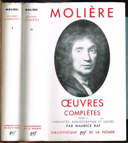 Molière. Oeuvres complètes. Variantes, Bibliographie et Notes par Maurice Rat. 2 Bände.