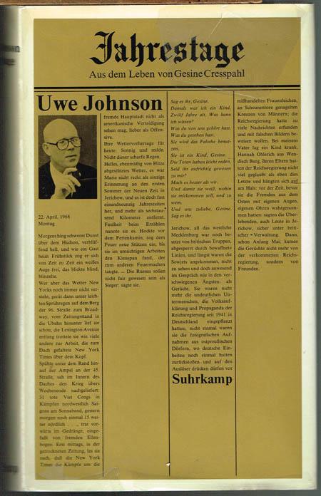 Uwe Johnson: Jahrestage. Aus dem Leben von Gesine Cresspahl. Band 3.