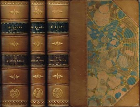 Heinrich Laube: Der deutsche Krieg. Historischer Roman. 6 Bücher in 3 Bänden.