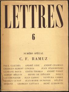 Lettres 6. Numéro Spécial: C. F. Ramuz.