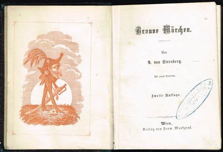 A. von Sternberg: Braune Märchen. Mit einem Titelbilde [des Autors]. Zweite Auflage.