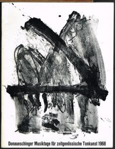 Donaueschinger Musiktage für zeitgenössische Tonkunst 1968. Programmheft.