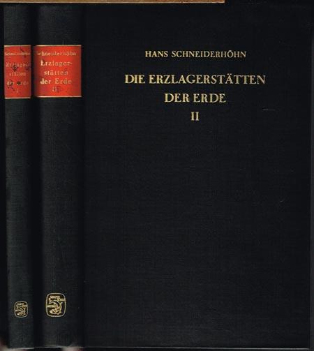 Hans Schneiderhöhn: Die Erzlagerstätten der Erde. Band 1: Die Erzlagerstätten der Frühkristallisation. Band 2: Die Pegmatite. 2 Bände. Mit insgesamt 407 Abbildungen im Text und auf 26 Farbtafeln.