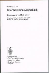 Roland Bulirsch: Mathematik und Informatik. Vom Nutzen der Formeln.