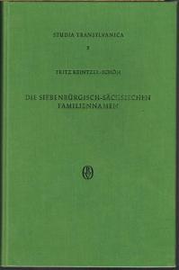 Fritz Keintzel-Schön: Die Siebenbürgisch-Sächsischen Familiennamen.