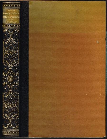 E[rnst] T[heodor] A[madeus] Hoffmann: Die Elixiere des Teufels. Nachgelassene Papiere des Bruders MEDARDUS eines Kapuziners. Herausgegeben von dem Verfasser der Phantasiestücke in Callots Manier.