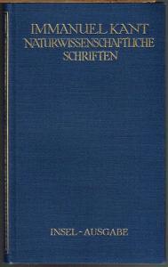 Immanuel Kant. Naturwissenschaftliche Schriften.