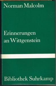 Norman Malcolm: Erinnerungen an Wittgenstein. Mit einer biographischen Skizze von Georg Henrik von Wright und Wittgensteins Briefen an Norman Malcolm. Aus dem Englischen von Claudia Frank und Joachim Schulte.