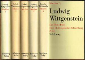 Ludwig Wittgenstein. Schriften. 5 Bände.