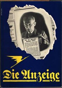 Die Anzeige. Zeitschrift für das gesamte Anzeigenwesen. 12. Jahrgang, Januar 1936, Heft 1.