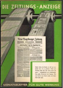 Die Zeitungs-Anzeige. Monatsblätter für gute Werbung. Mai 1935.