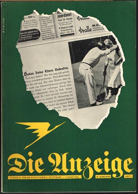 Die Anzeige. Zeitschrift für das gesamte Anzeigenwesen. 12. Jahrgang, 1.März 1936, Heft 3.