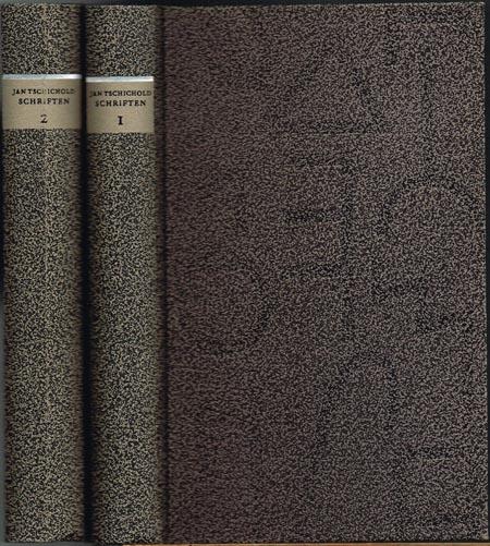Jan Tschichold: Schriften 1925 - 1974. Ausgabe in zwei Bänden. Herausgegeben von Günter Bose und Erich Brinkmann. Band I: Schriften 1925 - 1947. Band II: Schriften 1947 - 1974.
