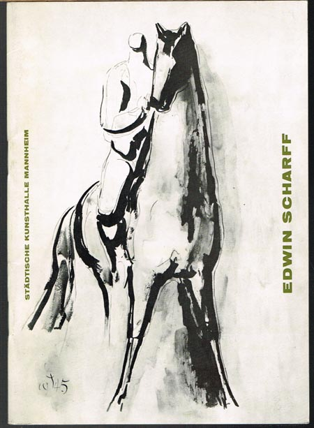 Edwin Scharff. [Ausstellung] Städtische Kunsthalle Mannheim 1963.