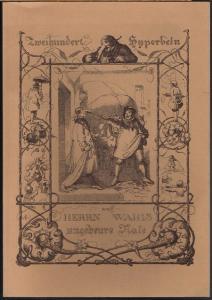 Johann Christoph Friedrich Haug: Zweihundert Hyperbeln auf Herrn Wahl's ungeheure Nase. Mit den Illustrationen von J. B. W. A. Sonderland.