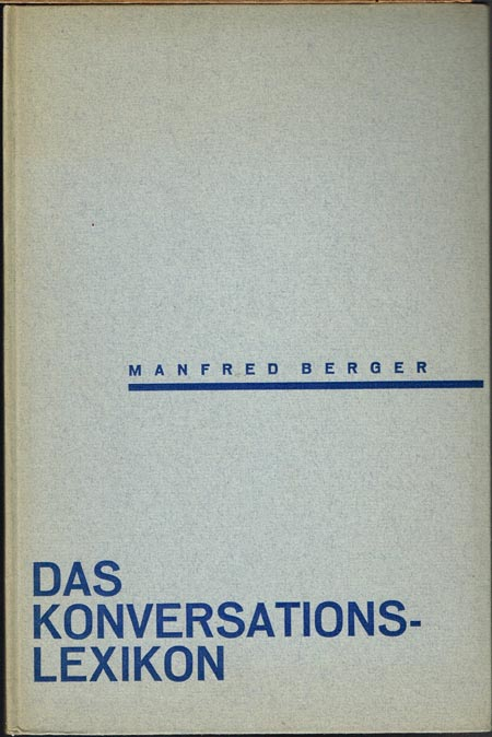Manfred Berger: Das Konversationslexikon.