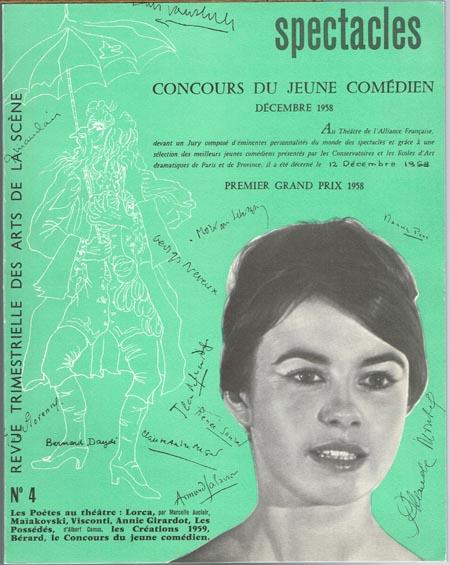 spectacles. Revue Trimestrielle des Arts de la Scène. Décembre 1958. No. 4.