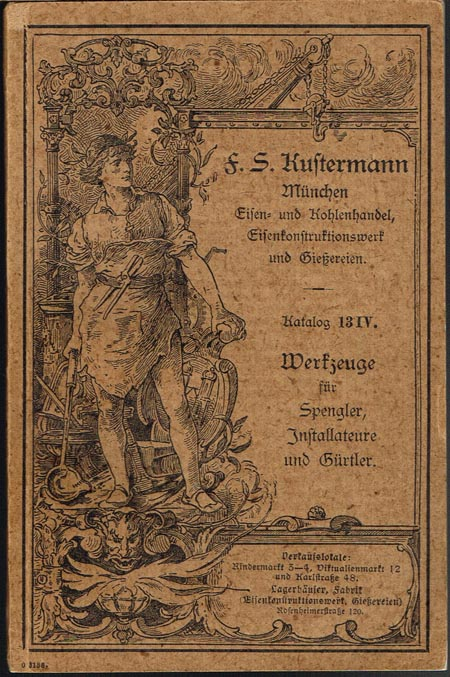 Katalog 13 IV.: Werkzeuge für Spengler, Installateure und Gürtler.