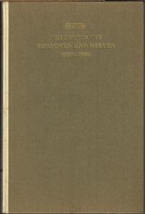 Hundert Jahre Forschen und Wirken 1865-1965. Jubiläumsschrift zur Hundertjahrfeier der Dr. A.Wander AG Bern.