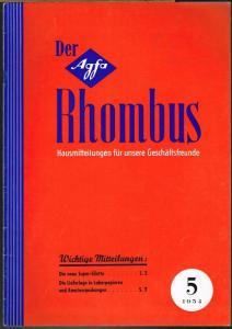 Der Agfa Rhombus. Hausmitteilungen für unsere Geschäftsfreunde. 5 1954.