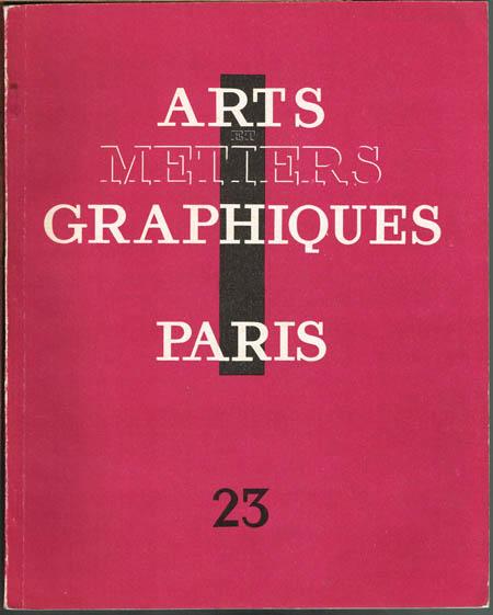 Arts et Metiers Graphiques. Heft 23.