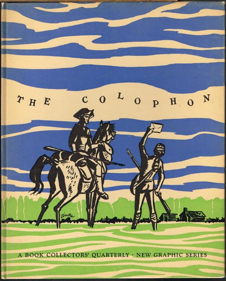 The Colophon. A Book Collectors' Quarterly. New Graphic Series. Number Two. The Quarterly for Bookmen.