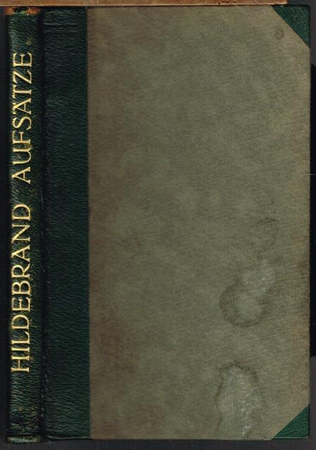 Adolf Hildebrand. Gesammelte Aufsätze.