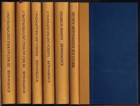 Arthur Schopenhauer's Werke in fünf Bänden. Nach den Ausgaben letzter Hand herausgegeben von Ludger Lütkehaus. Band I bis V + Beibuch in 6 Bänden.